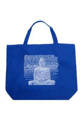 La Pop Art Large Word Art Tote Bag - Zen Buddha