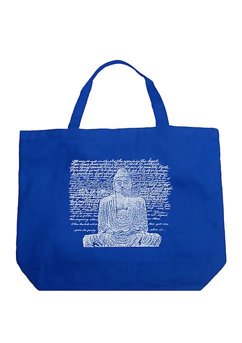 Large Word Art Tote Bag - Zen Buddha