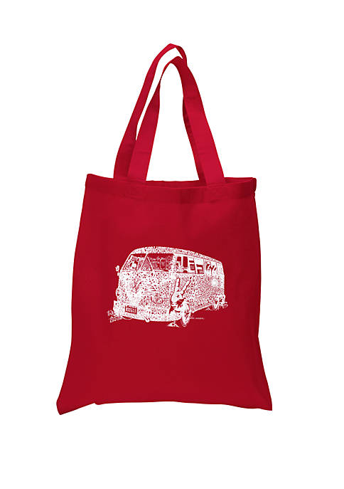 LA Pop Art Small Word Art Tote Bag-The