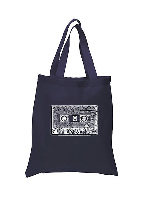 Small Word Art Tote Bag The 80s