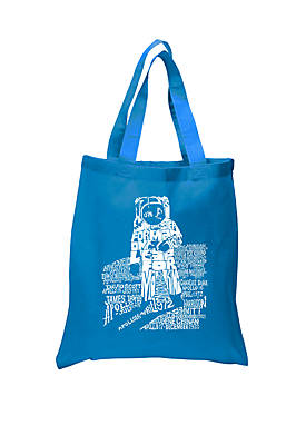 Small Word Art Tote Bag- Astronaut