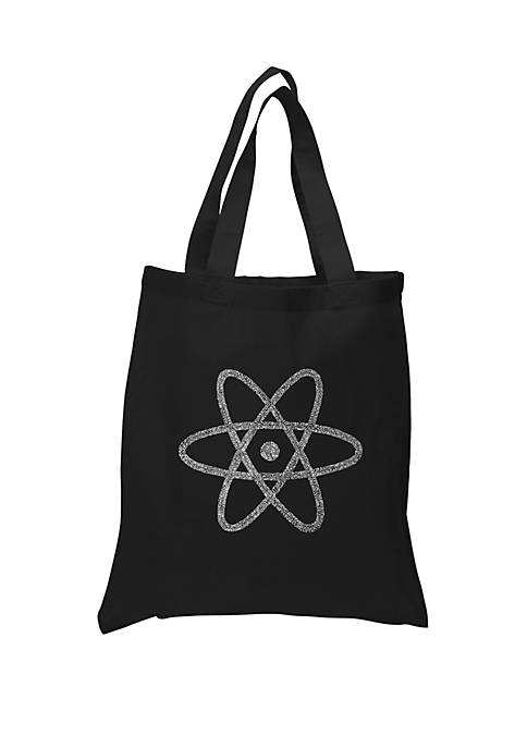 Small Word Art Tote Bag-Atom