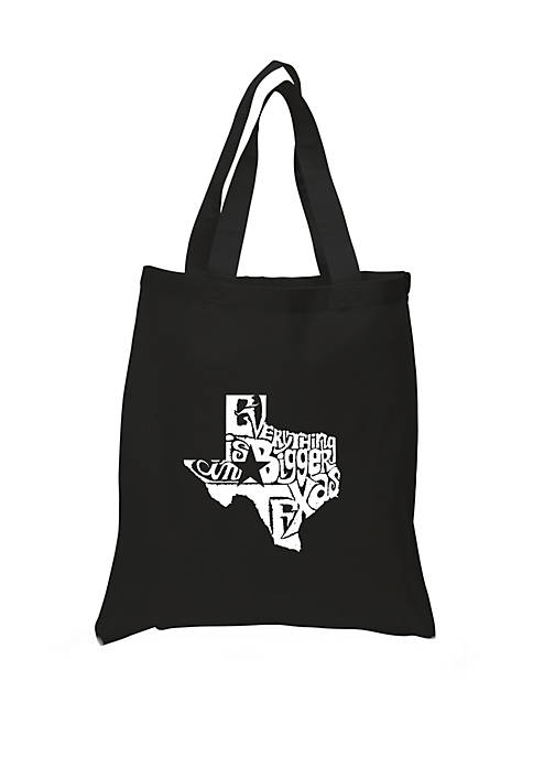 Small Word Art Tote Bag - Everything is Bigger in Texas