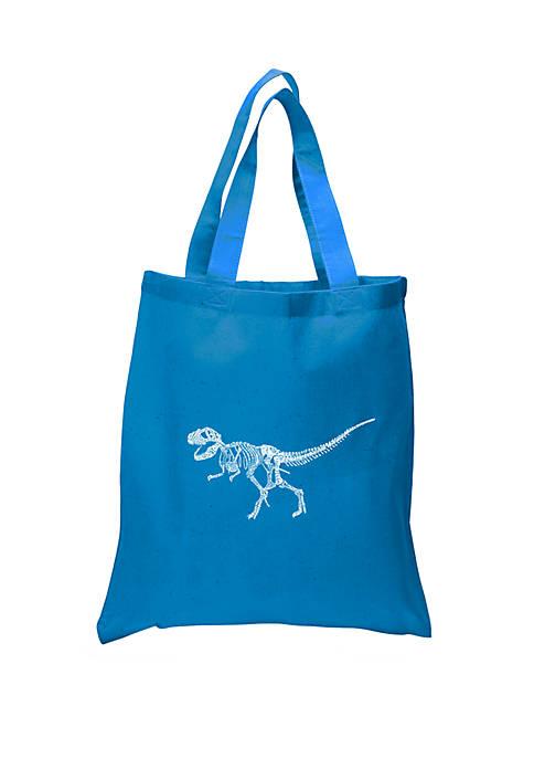 Small Word Art Tote Bag - Dinosaur T-Rex Skeleton