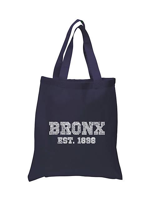 Small Word Art Tote Bag Popular-Neighborhoods in Bronx, NY