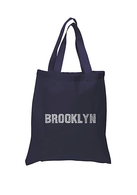 Small Word Art Tote Bag - Brooklyn Neighborhoods