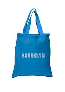 LA Pop Art Small Word Art Tote Bag - Brooklyn Neighborhoods