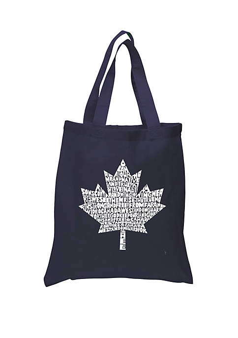 Small Word Art Tote Bag - Canadian National Anthem