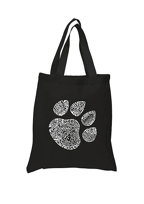 Small Word Art Tote Bag - Cat Paw