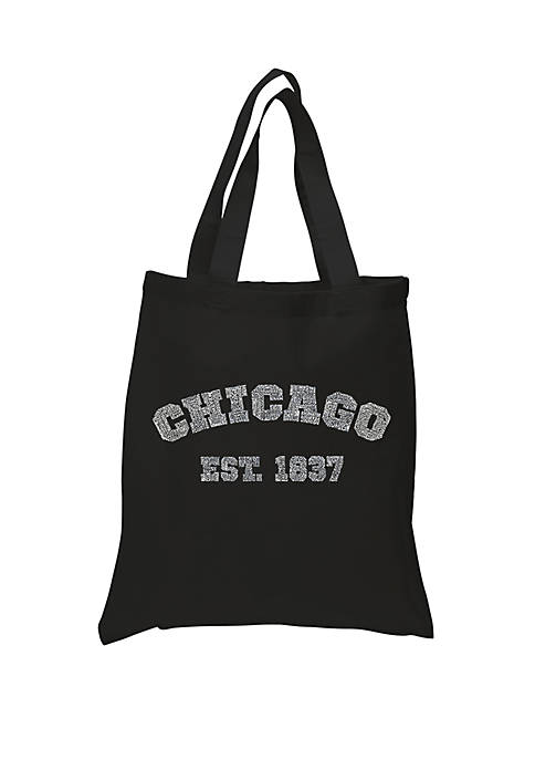 Small Word Art Tote Bag - Chicago 1837