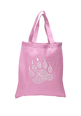 Small Word Art Tote Bag Types of Bears