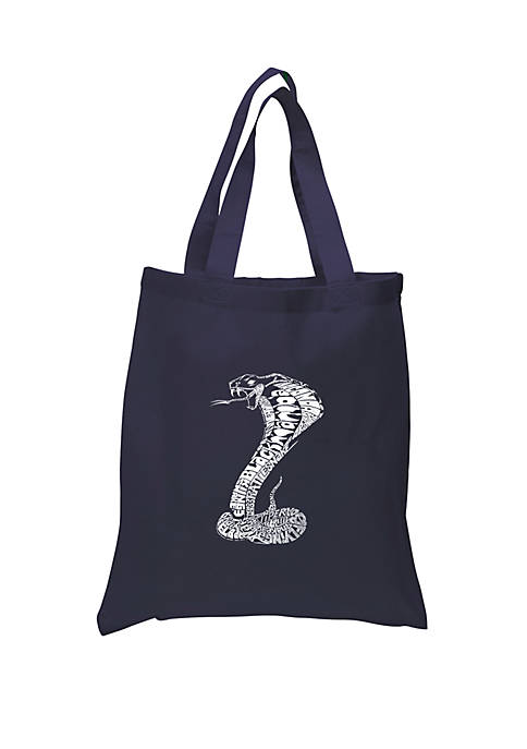 Small Word Art Tote Bag - Types of Snakes