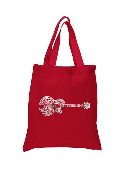 Small Word Art Tote Bag - Country Guitar