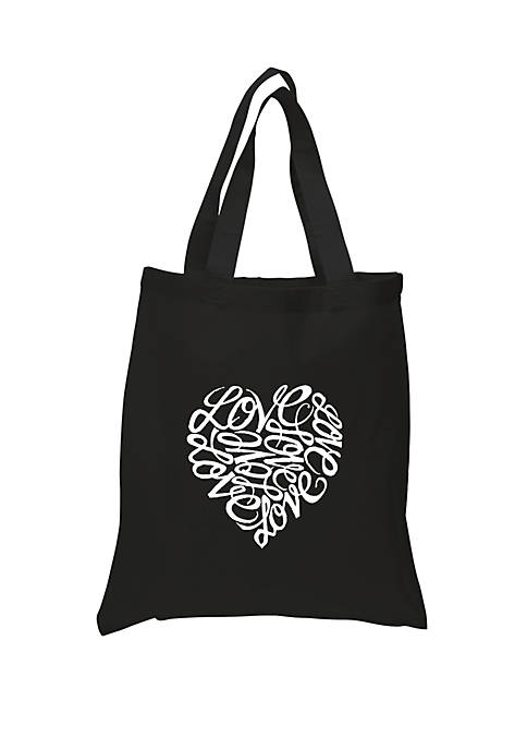 Small Word Art Tote Bag - Love