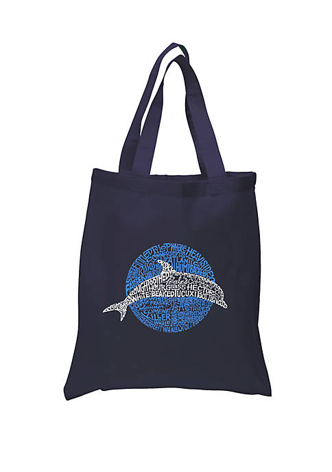 Small Word Art Tote Bag - Species of Dolphin
