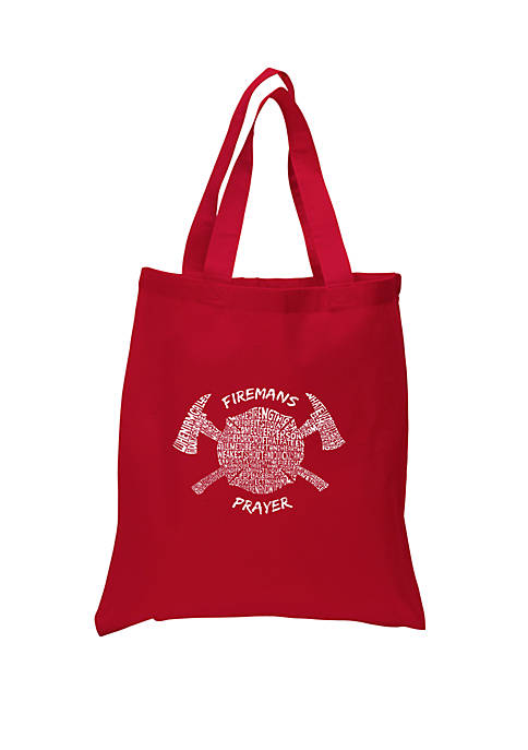 Small Word Art Tote Bag - Firemans Prayer