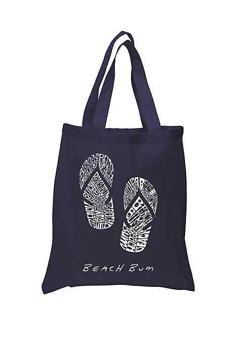 Small Word Art Tote Bag - Beach Bum