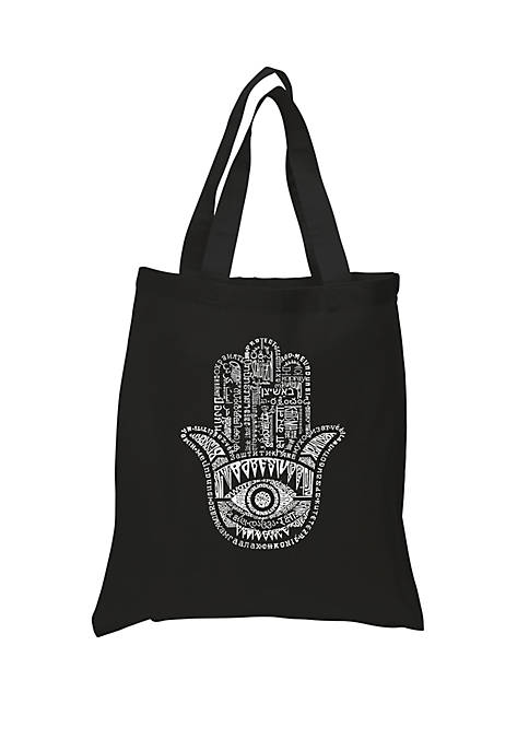 Small Word Art Tote Bag - Hamsa