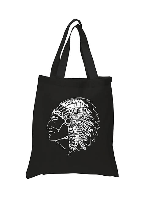 Small Word Art Tote Bag-Popular Native American Indian Tribes