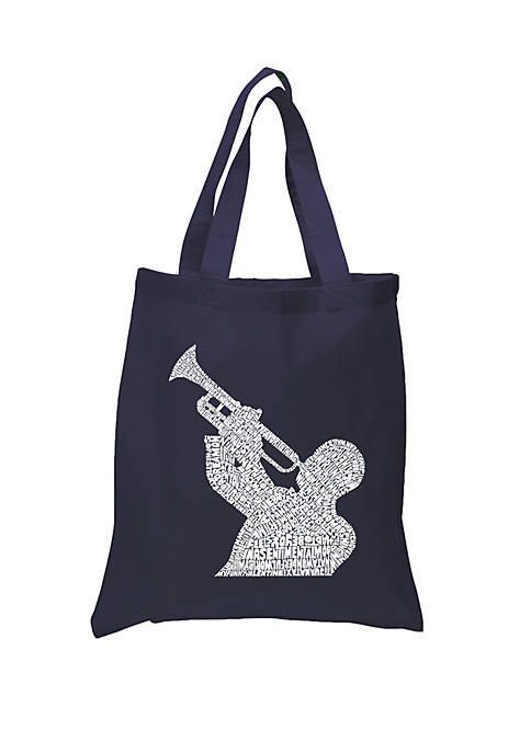 Small Word Art Tote Bag - All Time Jazz Songs