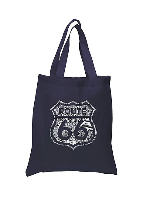 Small Word Art Tote Bag - Get Your Kicks on Route 66