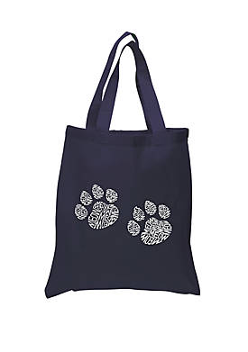 Small Word Art Tote Bag Meow Cat Prints