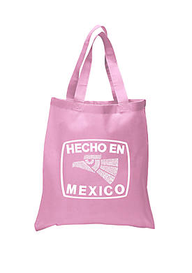 Small Word Art Tote Bag Hecho En Mexico