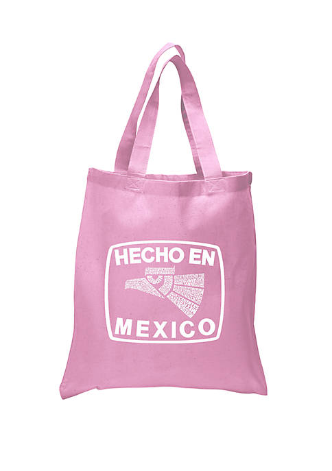 Small Word Art Tote Bag Hecho En Mexico