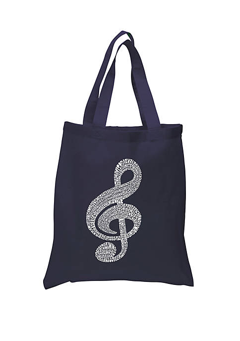 Small Word Art Tote Bag - Music Note
