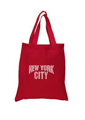 Small Word Art Tote Bag - NYC Neighborhoods