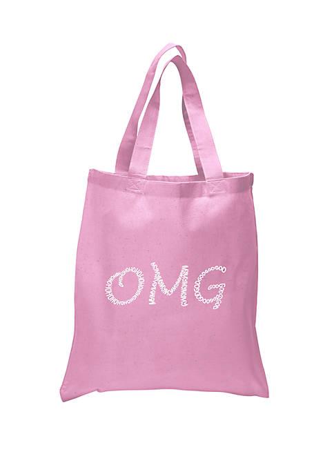 Small Word Art Tote Bag - OMG