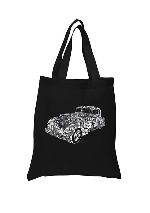 Small Word Art Tote Bag - Mobsters