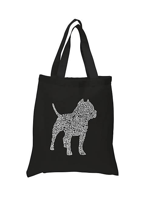 Small Word Art Tote Bag - Pitbull