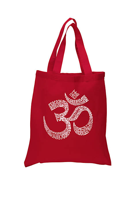 Small Word Art Tote Bag - Poses Om