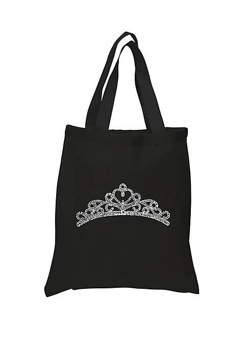 Small Word Art Tote Bag - Princess Tiara