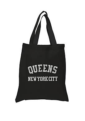 Small Word Art Tote Bag - Popular Neighborhoods In Queens, NY