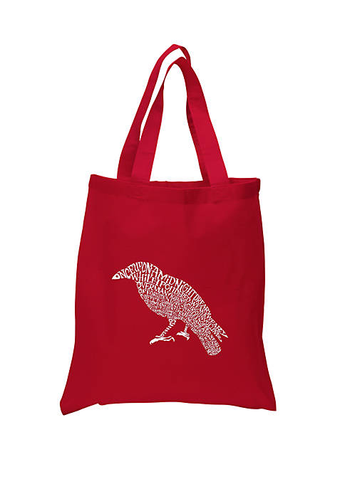 Small Word Art Tote Bag - Edgar Allen Poes The Raven