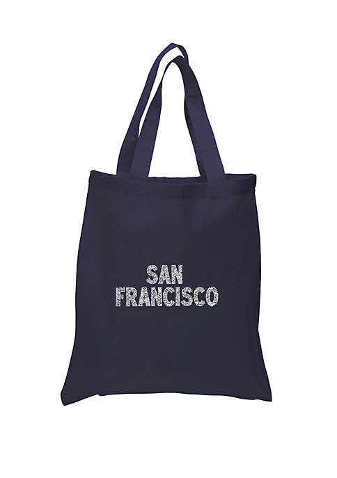 Small Word Art Tote Bag - San Francisco Neighborhoods