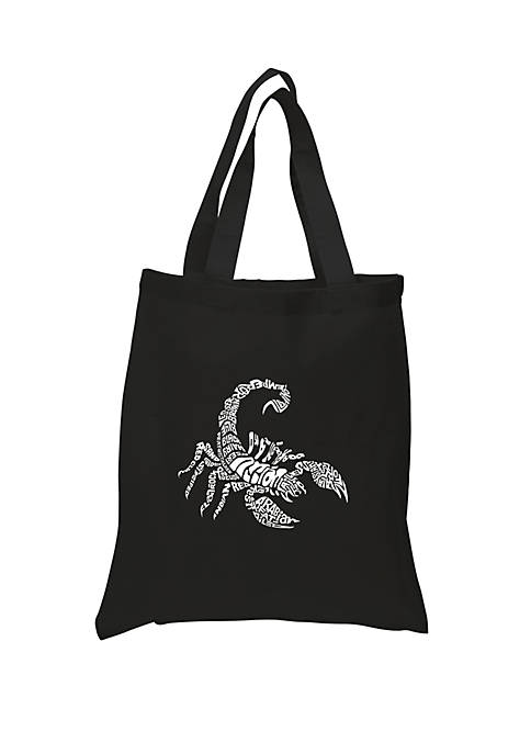 Small Word Art Tote Bag - Types of Scorpions