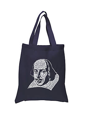 Small Word Art Tote Bag - The Titles of All Of William Shakespeares Comedies and Tragedies