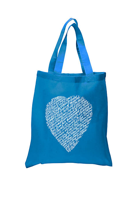 Small Word Art Tote Bag - William Shakespeares Sonnet 18