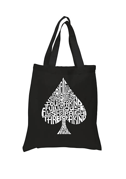Small Word Art Tote Bag - Order of Winning Poker Hands
