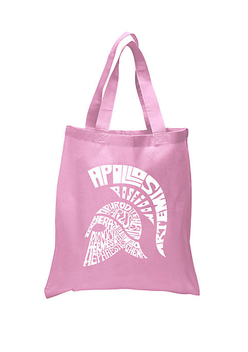 Small Word Art Tote Bag - Spartan