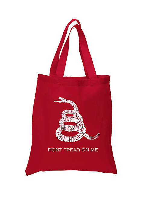 Small Word Art Tote Bag - Dont Tread On Me