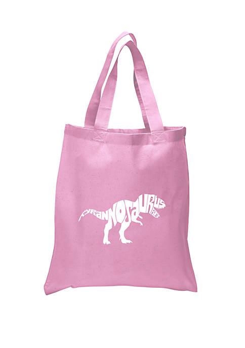 Small Word Art Tote Bag - Tyrannosaurus Rex