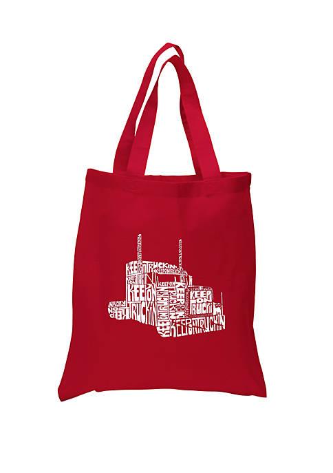 Small Word Art Tote Bag - Keep On Truckin