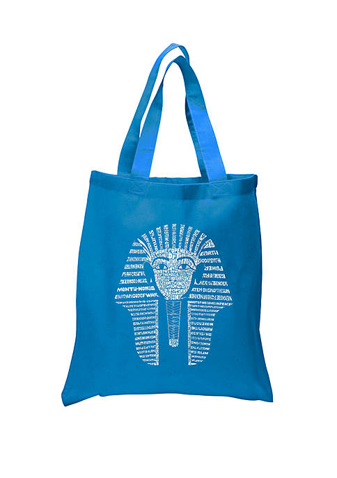 Small Word Art Tote Bag - King Tut
