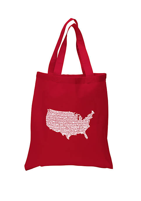 Small Word Art Tote Bag - The Star Spangled Banner