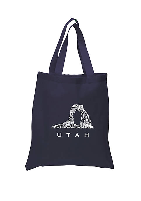 Small Word Art Tote Bag - Utah