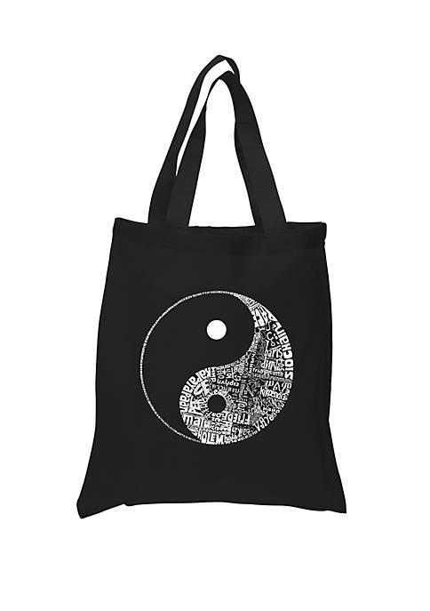 Small Word Art Tote Bag - Peace